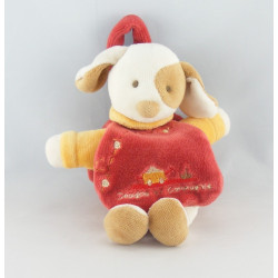 Doudou et compagnie Hugo chien rouge attache tétine