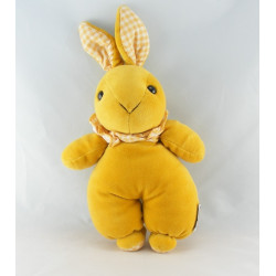 Doudou lapin jaune AJENA 35 cm