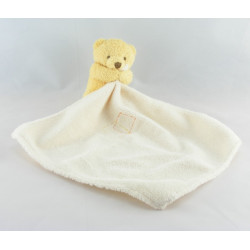 Doudou plat ours beige mouchoir Baby nat