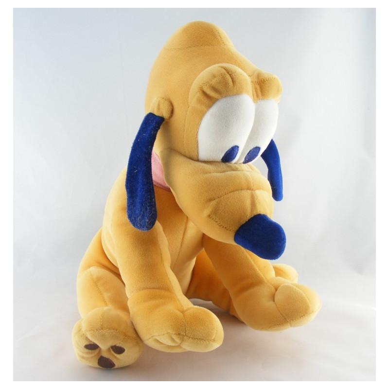 Peluche Chien Pluto Collier rose DISNEY