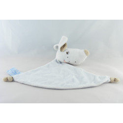 Doudou plat chien blanc cocard KING BEAR