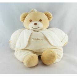 Doudou ours écru gilet blanc TAKINOU
