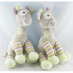 Doudou Girafe gris vert fleur Arthur et Lola