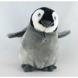 Doudou pingouin bleu BABICO