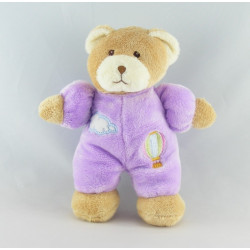 Doudou ours violet nuage montgolfiére GIPSY