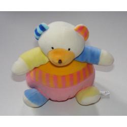 Doudou ours multicolore BABYSUN