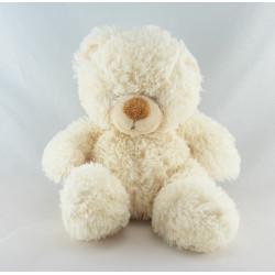 Doudou ours blanc pull écru Baby MAXITA