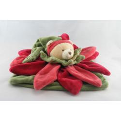 Doudou et compagnie collector ours plat fleur rouge orange