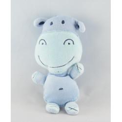Doudou plat vache gris bleu AUCHAN