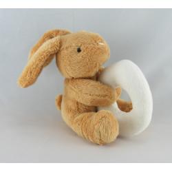 Doudou Lapin marron avec mouchoir Baby nat