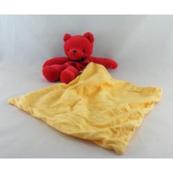 Doudou ours blanc avec mouchoir SUCRE D'ORGE
