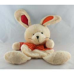 Doudou lapin bleu marron avec bébé CIAD