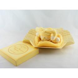 Doudou et compagnie plat rond ours jaune Douceur Macaron