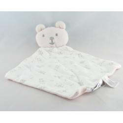 Doudou plat ours gris imprimé animaux Cocoon
