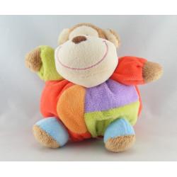 Doudou éléphant beige carreaux Baby Friends EDDY TOYS