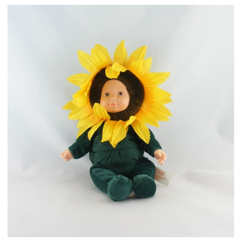 Poupée Tournesol fleur ANNE GEDDES 18 cm