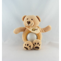 Doudou veilleuse ours beige rouge jaune BABY NAT