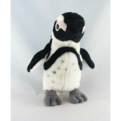 Doudou peluche pingouin gris NAUSICAA