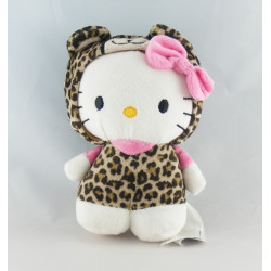 Doudou chat HELLO KITTY rose fleurs SANRIO LICENSE