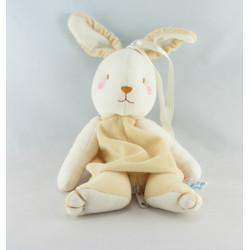 Doudou lapin beige blanc SUCRE D'ORGE