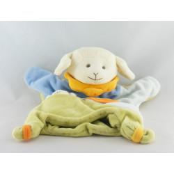 Doudou et compagnie marionnette mouton agneau vert bleu