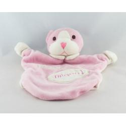Doudou chat rose blanc Miaou EVEIL ET TENDRESSE