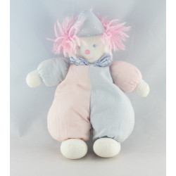 Doudou musical ours beige rose rayé TROUSSELIER