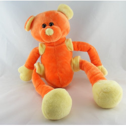 Doudou ours orange jaune bras jambes coulissant CMP