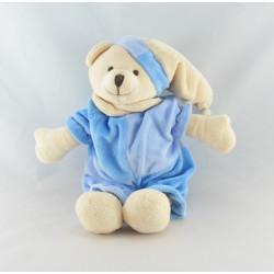 Doudou ours blanc bleu CMP
