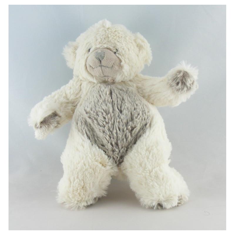 Doudou ours blanc tout doux BABY NAT