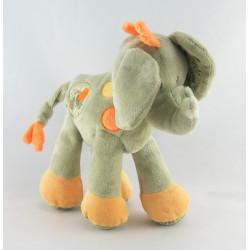 Doudou éléphant vert étoiles NICOTOY