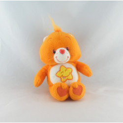 Peluche Bisounours orange étoile Grosourire CARE BEARS 20 cm