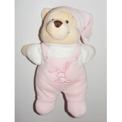 Doudou Winnie l'ourson Salopette rose Disney
