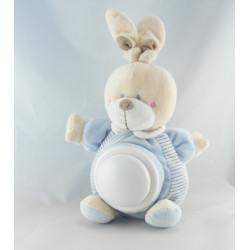 Doudou lapin rayé bleu ABC NICOTOY