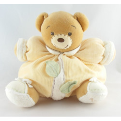 Doudou ours boule écru feuilles Collection Pure KALOO