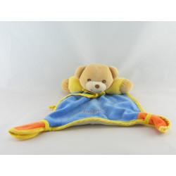 Doudou ours bleu jaune orange TAKINOU