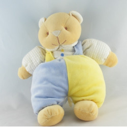 Doudou chat ours beige blanc cerf volant BENGY