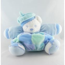 Doudou ours patapouf bleu avec béret Lagoon Lagon KALOO