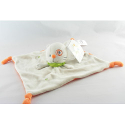 Doudou plat chat cocard beige orange KITCHOUN KIABI