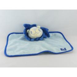 Doudou plat lion bleu P'TIT FAN