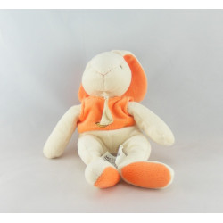 Doudou lapin blanc orange BABY NAT