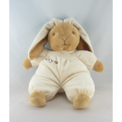 Doudou lapin beige blanc BABY CP INTERNATIONAL