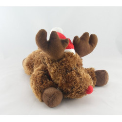 Doudou elan cerf renne marron rouge YVES ROCHER
