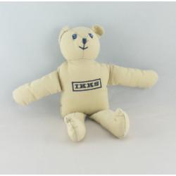 Doudou ours bleu jeans IKKS