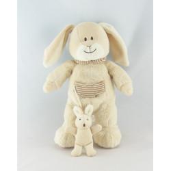Doudou lapin écru blanc NICOTOY
