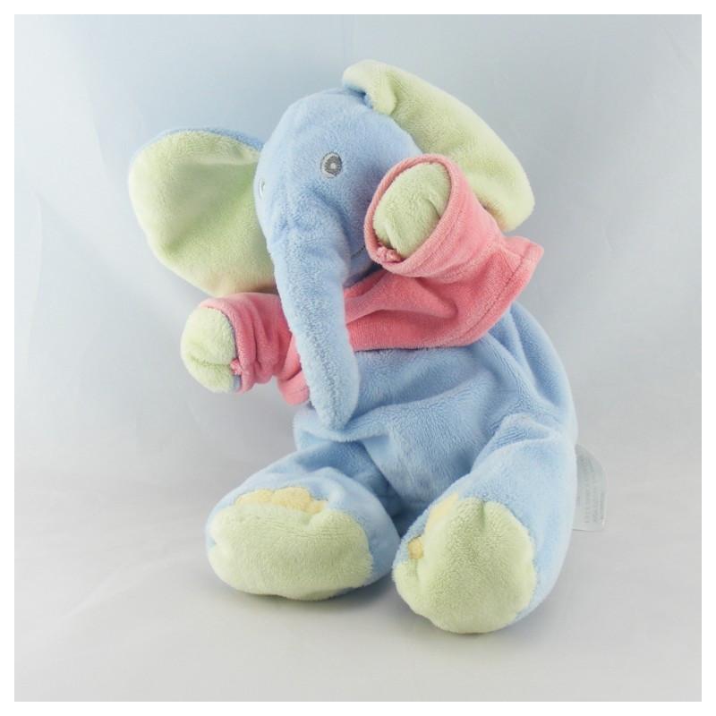 Doudou éléphant bleu maillot rose KIABI
