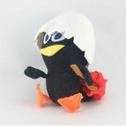 Doudou poussin noir coquille CALIMERO