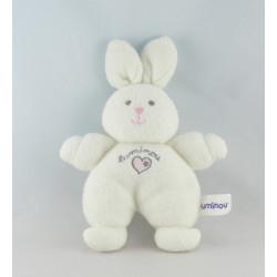 Doudou lapin blanc Luminou