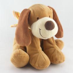 Doudou chien marron beige longues oreilles NICOTOY