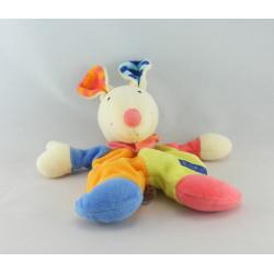 Doudou lapin blanc rose BABYSUN